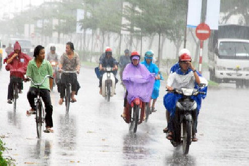 Ngày nắng nóng, chiều tối có mưa dông