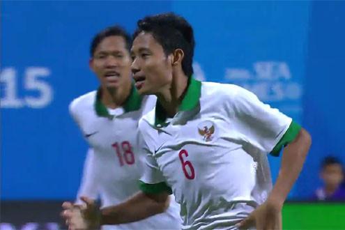 Loại U23 Singapore, U23 Indonesia giành vé cuối cùng vào bán kết