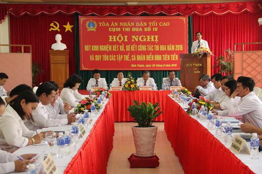 Cụm thi đua số IV tổ chức Hội nghị sơ kết công tác thi đua