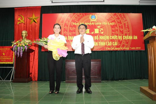 Công bố quyết định bổ nhiệm Chánh án TAND tỉnh Lào Cai