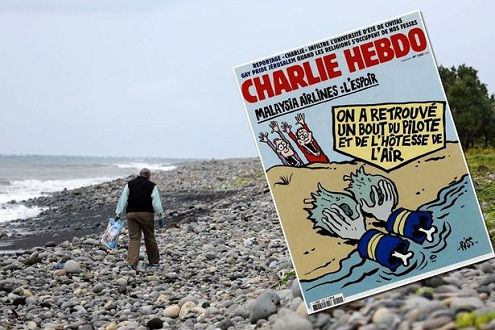 Châm biếm MH370, Charlie Hebdo bị chỉ trích nặng nề