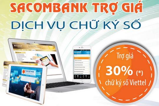 Sacombank ưu đãi cho doanh nghiệp đăng ký nộp thuế điện tử