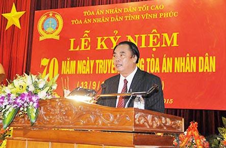TAND tỉnh Vĩnh Phúc kỷ niệm 70 năm ngày Truyền thống TAND