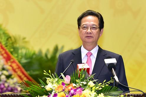 Thủ tướng Nguyễn Tấn Dũng dự lễ kỷ niệm 70 năm ngày Truyền thống ngành công nghiệp Quốc phòng
