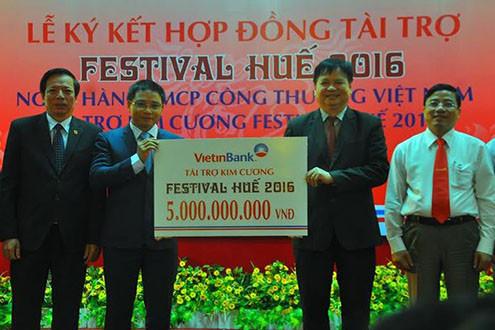 Vietinbank trở thành Nhà tài trợ Kim cương Festival Huế 2016