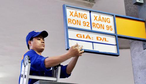 Xăng giảm giá, dầu tăng 222 đồng/lít từ 15 giờ chiều nay