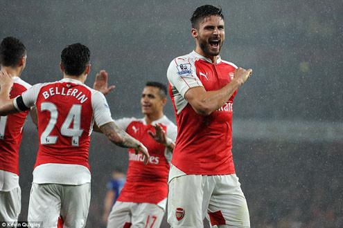 Cận cảnh Arsenal công chiếm ngôi đầu BXH Premier League