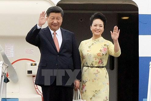 Hình ảnh đầu tiên của Chủ tịch Trung Quốc Tập Cận Bình tại Việt Nam