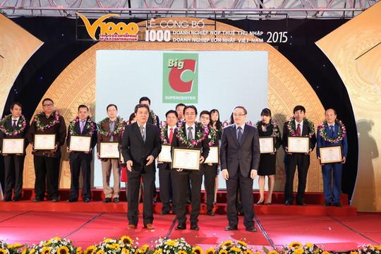 Hệ thống siêu thị Big C được vinh danh Top 50 DN thành tựu xuất sắc 2011-2015