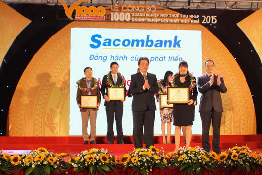 Sacombank được xếp hạng 22 DN nộp thuế thu nhập doanh nghiệp lớn nhất Việt Nam