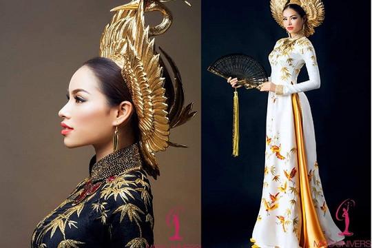 Cận cảnh hai mẫu quốc phục của Phạm Hương cho Miss Universe 2015