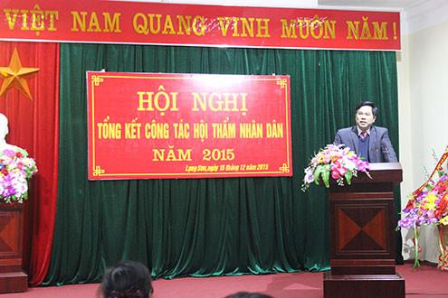 TAND tỉnh Lạng Sơn tổng kết công tác Hội thẩm nhân dân