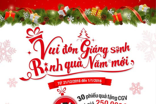 Tận hưởng mùa Giáng sinh với quà tặng tại Fanpage Facebook Techcombank