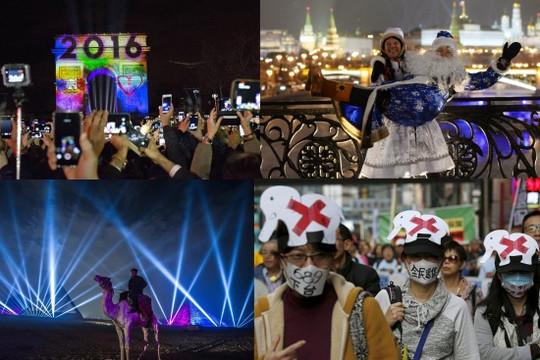 Nhìn lại những khoảnh khắc đón năm mới đầy ấn tượng trên thế giới