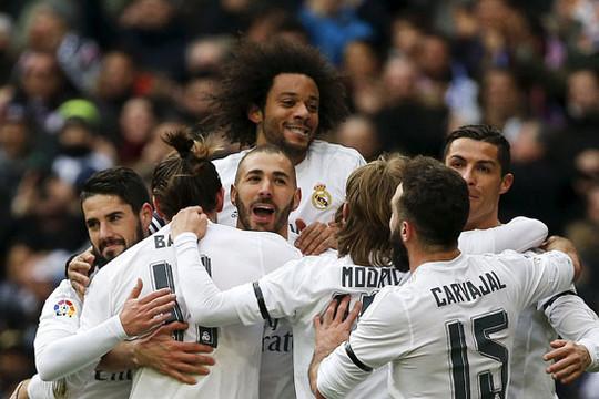 Tam sát B-B-C dưới thời HLV Zidane Real vùi dập Sporting Gijon 5-1