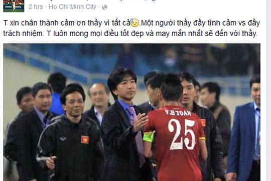 Huy Toàn, Duy Mạnh... nói lời chia tay HLV Miura