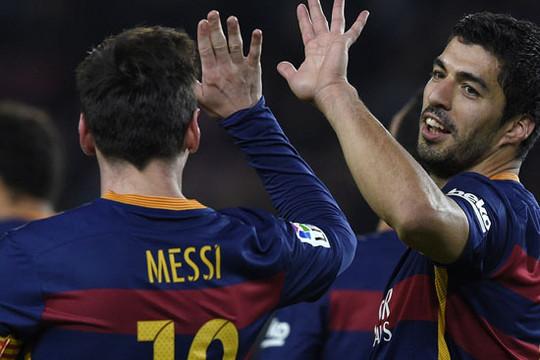 Barcelona hủy diệt Valencia: Song tấu Messi và Suarez