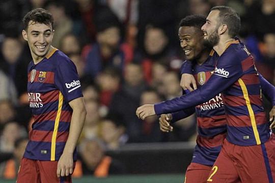 Thắng nhàn Valencia, Barcelona vào chung kết Cúp nhà Vua TBN