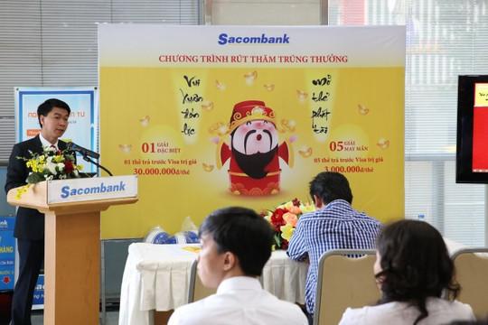 """Sacombank rút thăm may mắn đợt 1 chương trình """"Vui xuân đón lộc - Mở thẻ phát tài"""""""