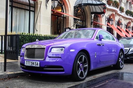 Ngắm Rolls-Royce Wraith độ màu tím độc nhất thế giới