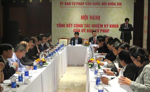 Tổng kết công tác nhiệm kỳ khóa XIII của Ủy ban Tư pháp Quốc hội