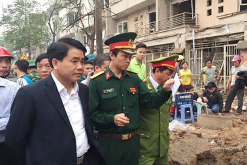 Ông Nguyễn Đức Chung chỉ đạo 6 nhiệm vụ cấp bách khắc phục vụ nổ ở Văn Phú