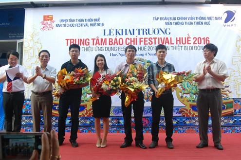 Khai trương Trung tâm báo chí Festival Huế 2016
