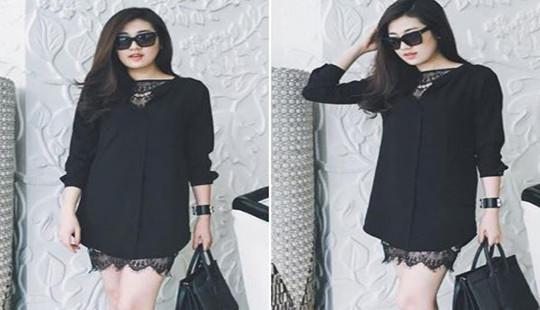 Diện thời trang đen chuẩn như sao Việt
