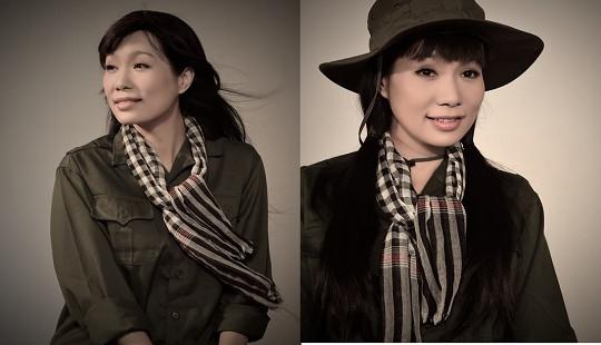 Vừa xong Hoa hậu, Trịnh Kim Chi lại làm cô bộ đội duyên dáng