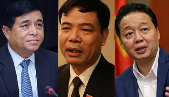 """3 tân Bộ trưởng """"đăng đàn"""" giải đáp câu hỏi nóng của ĐBQH"""