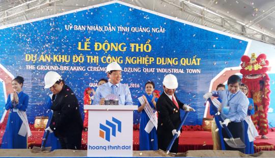 Quảng Ngãi: Động thổ Khu công nghiệp Dung Quất hơn 2.000 tỉ đồng