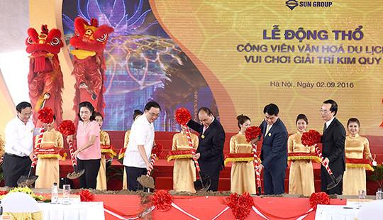 Thủ tướng dự lễ động thổ công viên nghìn tỷ, đẳng cấp quốc tế tại Hà Nội