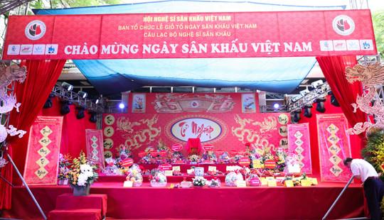 Nghệ sĩ Hà Nội tề tựu đông đủ nhân ngày Giỗ tổ sân khấu Việt Nam