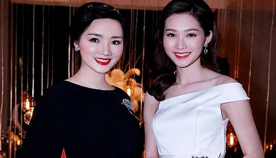 """Hoa hậu Giáng My đọ nhan sắc không tuổi cùng """"Hoa hậu quốc dân"""" Thu Thảo"""
