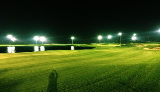 Lắp đèn 18 hố chào đón giải Faros Golf Tournament 2016