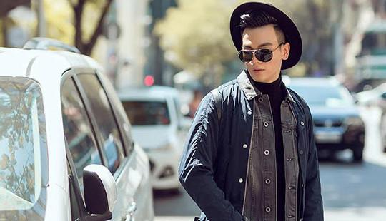 Lê Xuân Tiền dạo phố với trang phục Thu Đông đa sắc màu