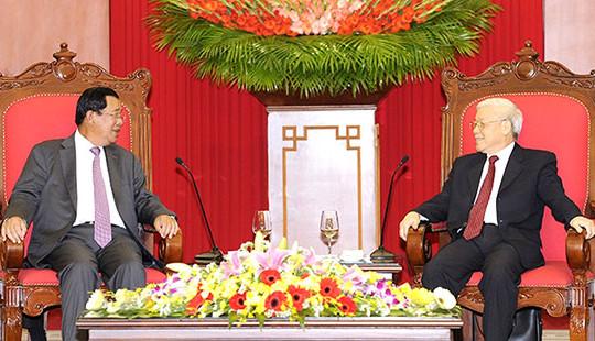 Lãnh đạo Đảng, Nhà nước, Quốc hội tiếp và hội kiến Thủ tướng Campuchia Hun Sen