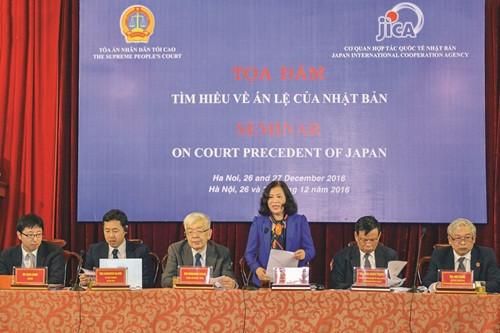 Tọa đàm tìm hiểu về hệ thống án lệ của Nhật Bản: Học hỏi kinh nghiệm để hoàn thiện chế định án lệ ở Việt Nam