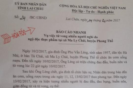 7 người chết, hàng chục người nhập viện nghi ngộ độc thực phẩm ở Lai Châu