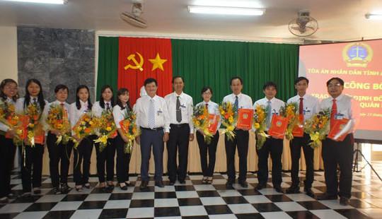TAND tỉnh An Giang bổ nhiệm 11 Chánh Văn phòng TAND cấp huyện