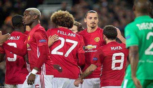 Europa League: Man United thắng đậm St.Etienne nhờ hat-trick của Ibra