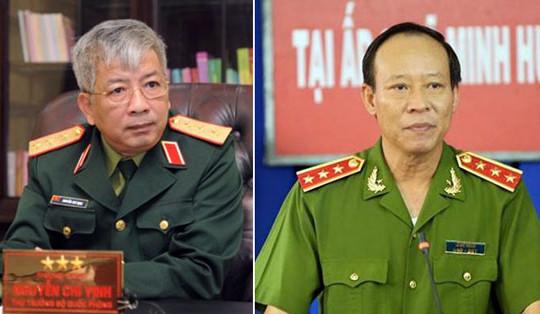 Bổ nhiệm lại 2 Thứ trưởng Công an và Quốc phòng