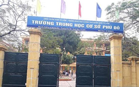 Hà Nội: Giáng chức, điều chuyển công tác đối với Hiệu trưởng Trường THCS Phú Đô