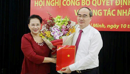 Ông Nguyễn Thiện Nhân trở thành tân Bí thư Thành ủy TP HCM