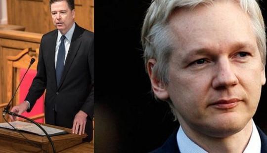 """WikiLeaks mời James Comey về đầu quân để """"điều tra ra trò"""" chính phủ Mỹ"""
