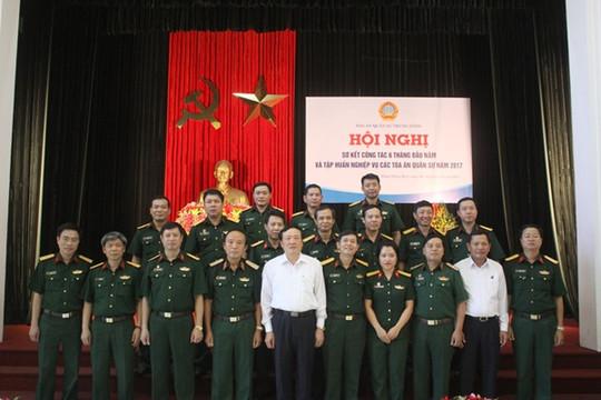 Tòa án Quân sự Trung ương tổ chức Hội nghị sơ kết công tác 6 tháng đầu năm và tập huấn nghiệp vụ năm 2017