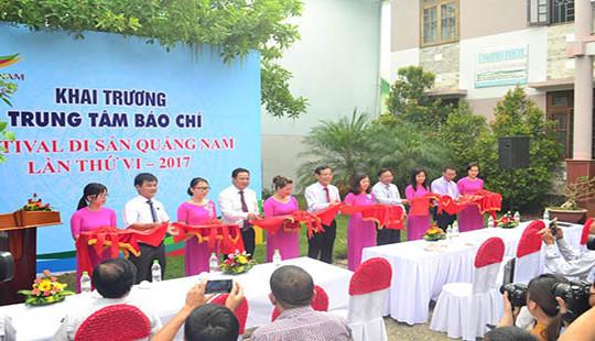 Quảng Nam: Khai trương Trung tâm báo chí phục vụ Festival Di sản Quảng Nam lần thứ VI