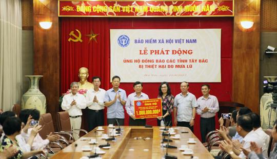 BHXH Việt Nam: Ủng hộ đồng bào bị lũ lụt các tỉnh Tây Bắc 1 tỷ đồng