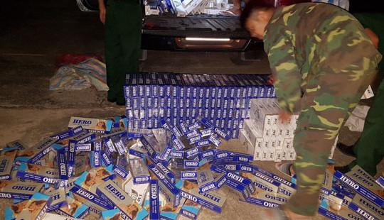 An Giang: Phát hiện thu giữ 5.000 gói thuốc lá ngoại nhập lậu