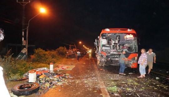Tai nạn liên hoàn trên Quốc lộ 14 khiến 1 người tử vong